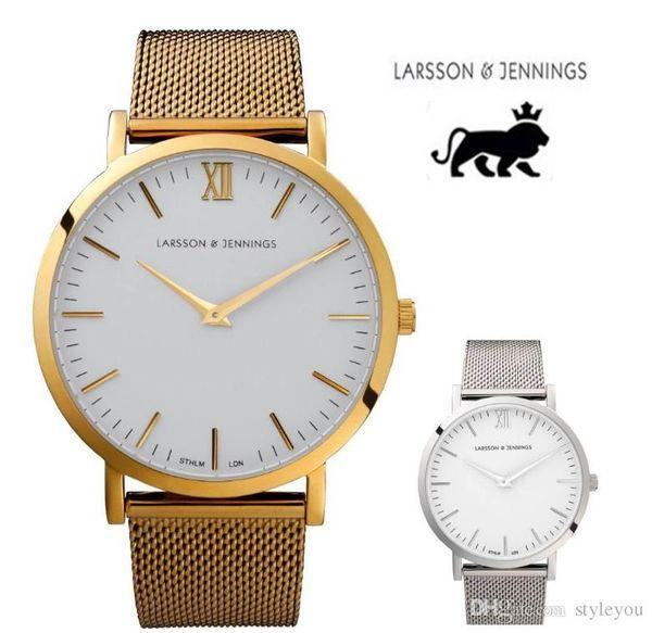 Montre de mode montre larsson et jennings montres pour hommes et femmes célèbre montre à quartz montre bracelet en acier inoxydable montres de sport