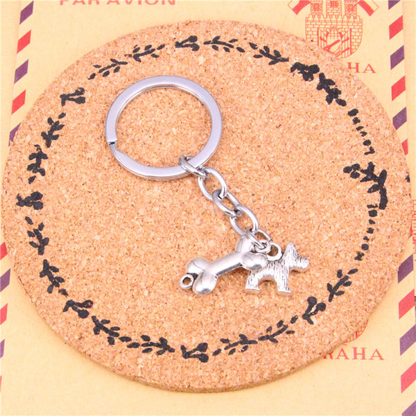 Keychain dog bone connector Pendants DIY Men Jewelry Car Key Chain Ring Holder Souvenir For Gift