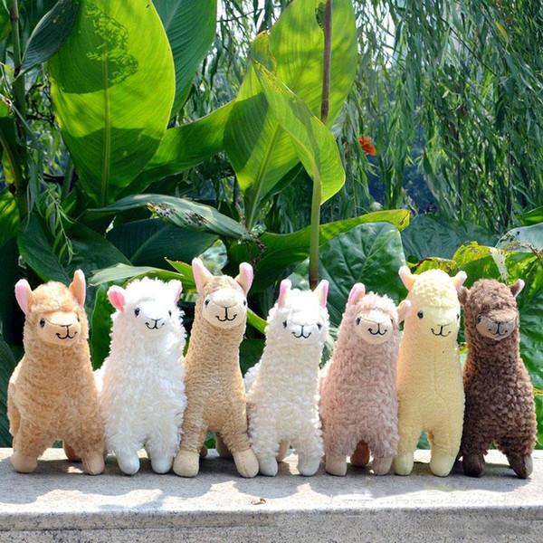 2018 new Kawaii Alpaca Plush Toys 23cm Arpakasso Llama Stuffed Animal Dolls Children Birthday Christmas Gift