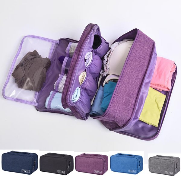Multilayer Bra Underwear Packing Cubes Organizer Trip Luggage Waterproof Travel Bag for Women Pouch Suitcase Space Saver Package