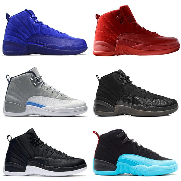Cheap 12 12s mens basketball shoes Wheat Dark Grey Bordeaux Flu Game The Master Taxi Playoffs French Blue Barons All Yellow Sports sneakers