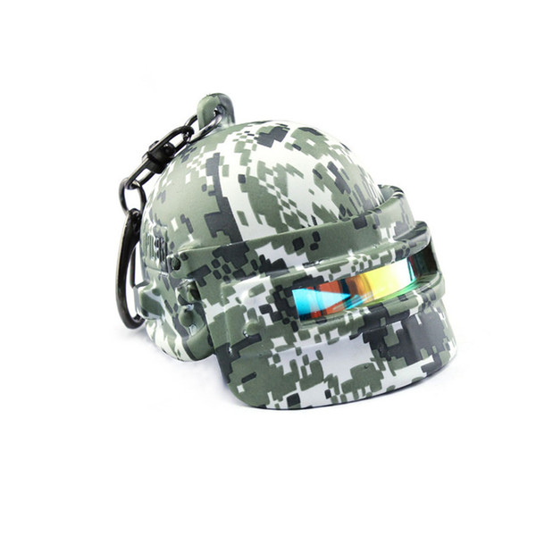 MEIDI Game 2018 PUBG Battle Grounds Key Protector Level 3 Camouflage Helmet Key Chains Can Open & Closed Fashion Jewelry SP1352