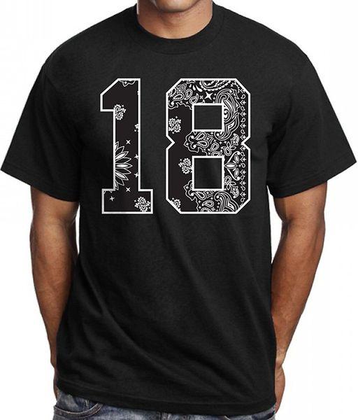 Graphic Tees O-Neck Short # 18 Bandana Print T shirt Urban Wear Street Hip Hop Los Angeles Cholo Clothing 100% Cotton Tee For Me