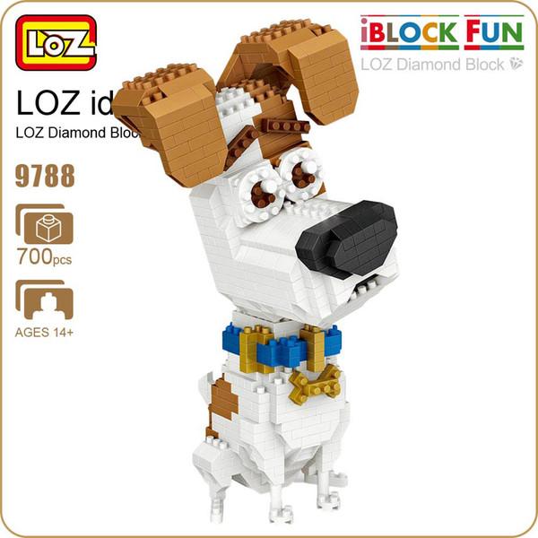 LOZ Blocks Diamond pet dog Micro Building Blocks Figures Cartoon Mini Plastic Assembly Toys Small Blocks Cute Animal Toy 9788