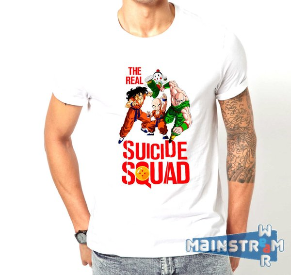 Heiße Neue 2018 Sommer Mode T-shirt Maglietta Echt Selbstmord Squad Dragon Ball Lustige Mash Up T-shirt