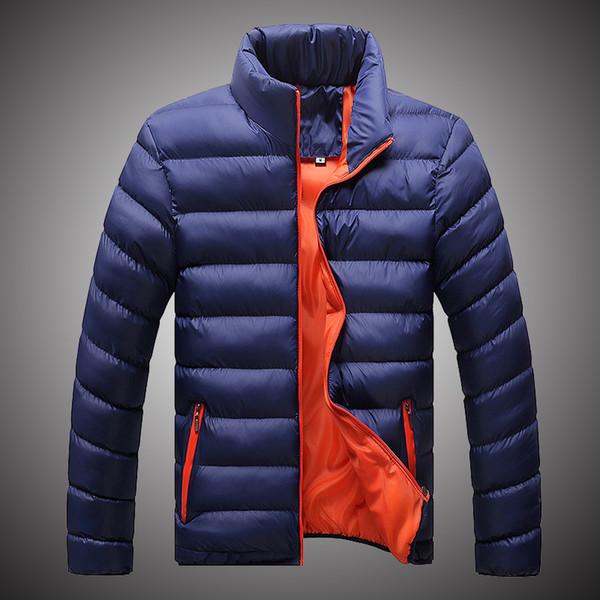Winter Parkas Men Warm Jackets Solid Color Coat Hooded Jacket Mens Winter Coat 2018 Fashion Parkas for Men Black Navy Blue S151