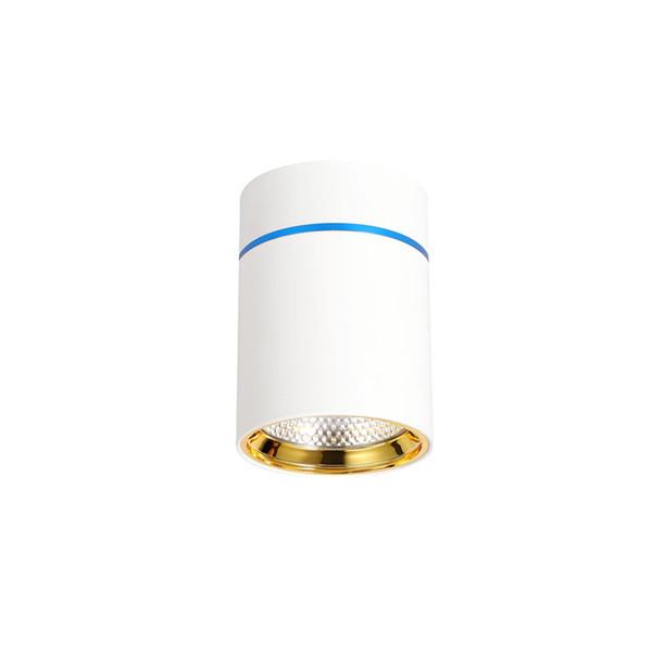 Surface Mounted Led ceiling Downlight 12W LED spot light White/Black Housing Aluminum AC85-265V recessed luminaire