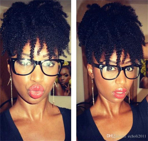 Wholesale coily Culry Ponytails For Black Women,Afro kink Curly Indian 100% Real Hair Drawstring Ponytails 120g