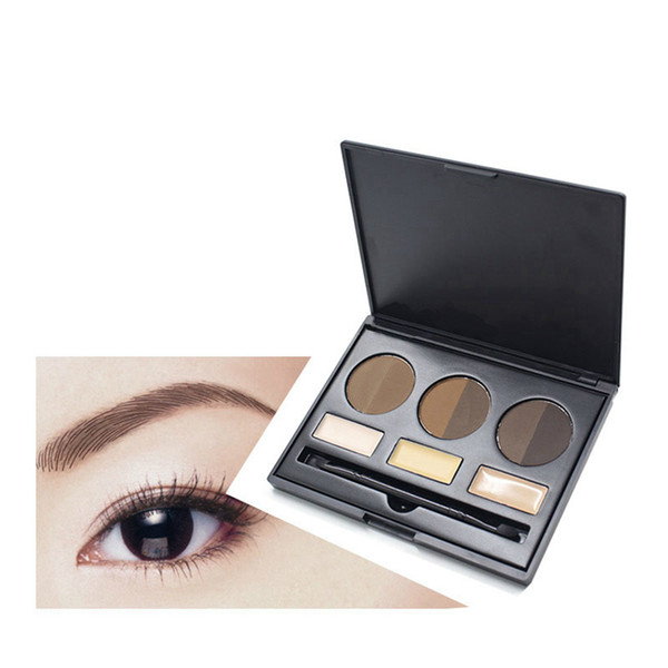 No Brand 9 color eyebrow kit with brush Private label eye brow kit eyebrow powder gel palette Waterproof eyebrow enhancers Eyes MakeUp