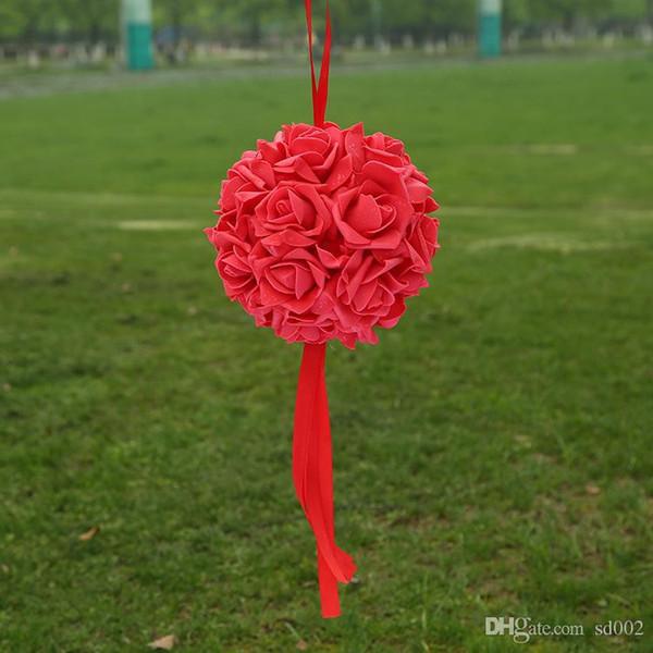 14cm Gefälschte Blumen Ball Romantische EVA Schaum Bouquet Beste Wahl Hochzeit Rose Blumen Bälle Dekorationen Heißer Verkauf 13jz ii