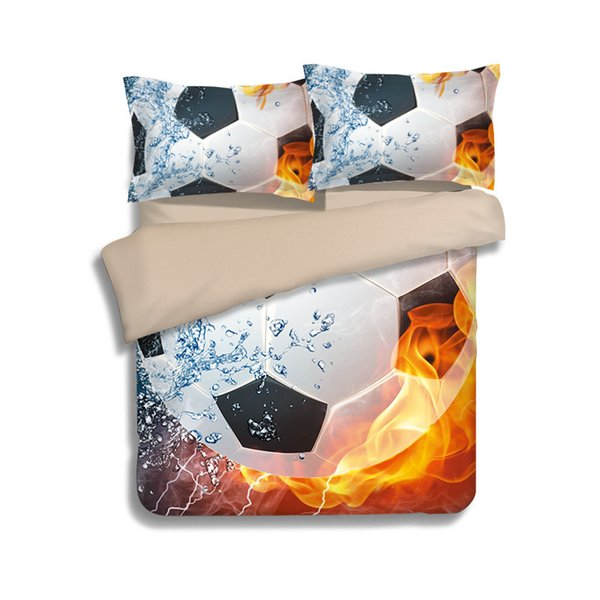 Sport Style World Cup Football Pattern Bedding Set 3PC Duvet Cover Set Of Quilt Cover & Pillowcase Twin Full Queen King Size