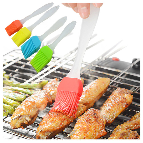 Silicone Baking BBQ Pastry Brush Cake Cream Bread butter Grill Oil Heatproof Basting Brushes Cooking Tools Kitchen Gadget wholesale