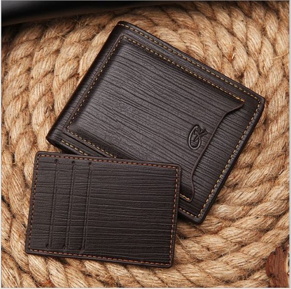 New style men's brand designer leather luxury purse wallet short cross high quality wallets for men free shipping