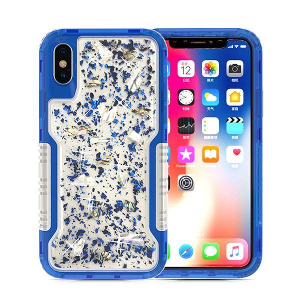 Funda protectora para iphone 8 plus Funda de teléfono epoxy para Iphone 8 plus funda carcasa protectora antichoque 2in1