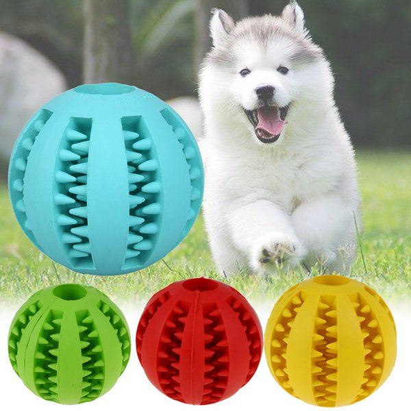 Dog Toy Interactive Rubber Balls Pet Dog Cat Puppy Chew Toys Ball Teeth Chew Toys Tooth Cleaning Balls Food Light Blue