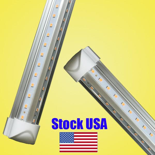 Super helles V-förmiges 4ft 5ft 6ft 8ft geführtes Schlauchlicht Integriertes geführtes Licht der Schläuche t8 für kühlere Türbeleuchtung t8 22w führte Schlauchlicht Wechselstrom 110-2
