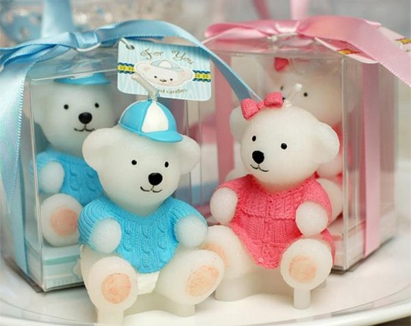 Baby shower favor candle--Children's birthday party candles sweater animal bears small candle gift wedding decoration SN1021