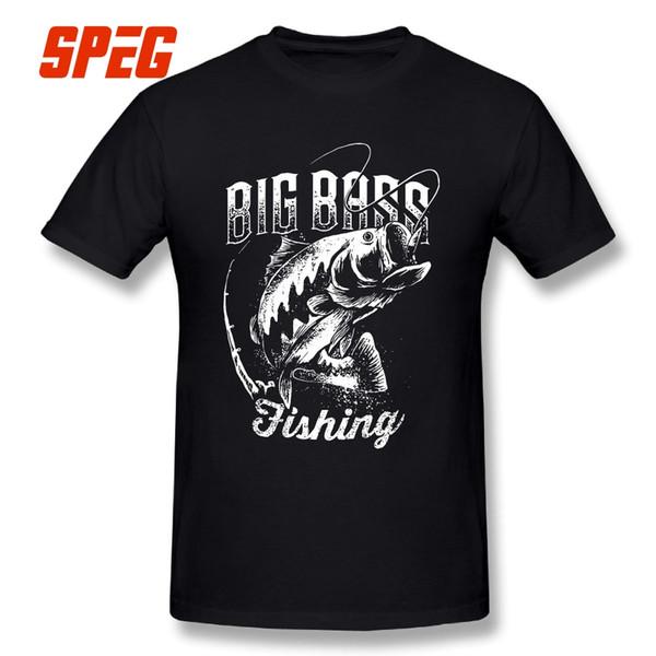 Big Bass Fishing New Arrival T Shirt Fisherman 2018 Fashion Male Round Neck Short Sleeve Vintage 100% Cotton Tees T Shirts Men