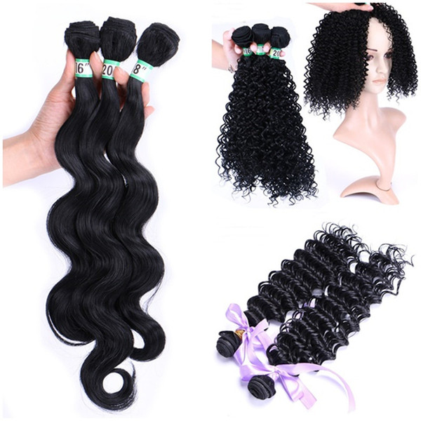 top popular Body Wave Hair Weave Bundles Hair Extensions Deep Wave Curly Hair Wefts 8-30 Inches Hairs Makeup Tool 2020
