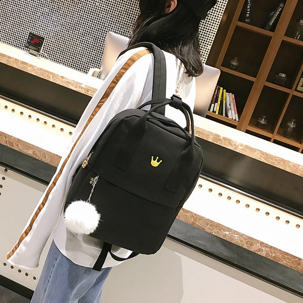 SAFEBET Girls Vintage Stylish School Bag Female Canvas Cloth Backpack Female Backpack High Quality 4 Colors Bag Free Shipping