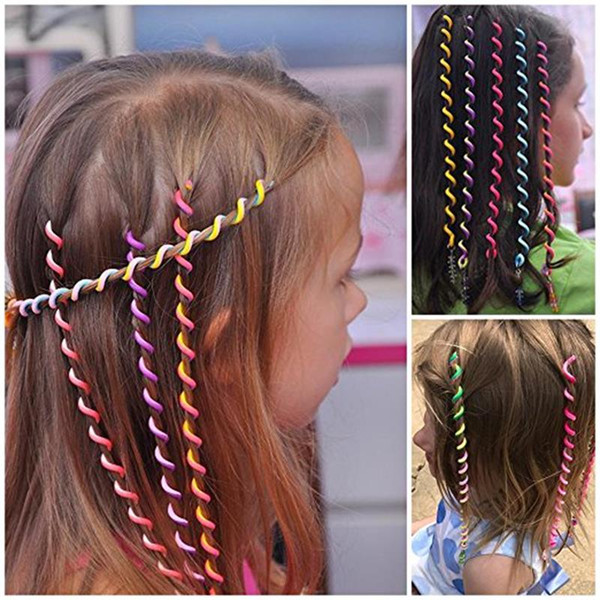 6 in 1 Multicolor Women Girl Hair Styling Twister Clip Braider Tool DIY Accessories free shipping