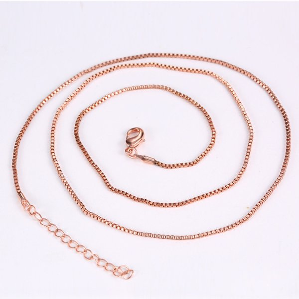 Three Colors Silver/Gold/Rose Gold Box Chain Necklaces for Coin Frame & Holder 60cm