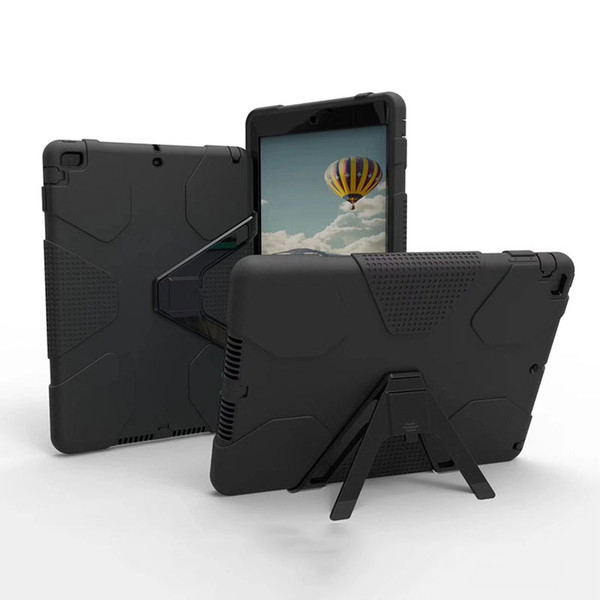 Kickstand 3 In 1 Shockproof Tablet Case Hybird Silicone PC Cover with Bumper Frame for iPad 2 3 4 Pro9.7 Mini1 2 3 LG Pad OPP Bag