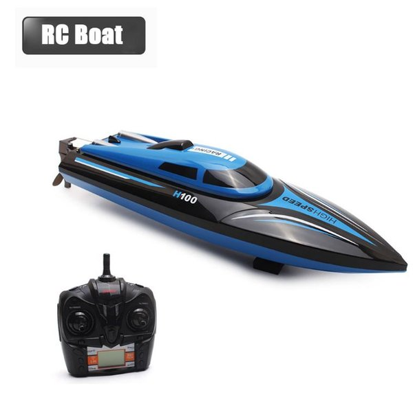 New High Speed RC Boat H100 2.4GHz 4 Channel 30km/h Racing Remote Control Boat with LCD Screen as gift For children Toys