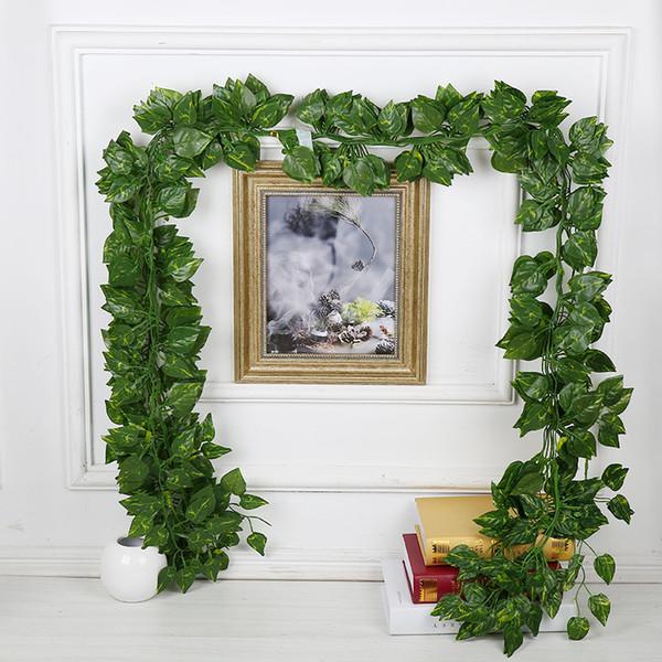 Düğün dekorasyon 240 cm Yapay Ivy Yaprak Garland Bitkiler için Plastik yeşil uzun Vine Fake Yeşillik çiçek Ev dekor 12 adet / grup