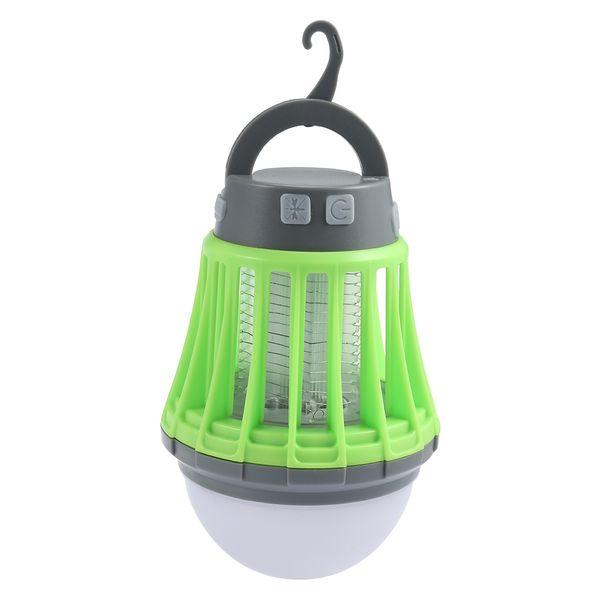 2 In 1 Portable Mosquito Killer Lamp Solar Power Camping Light Led Bulb  Lamp Tent Night Fishing Tree Hanging Lantern Decoration Coleman Propane
