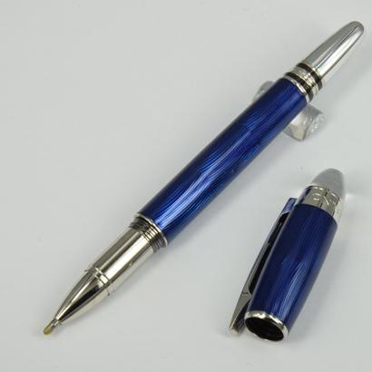 caneta esferográfica de rolo azul