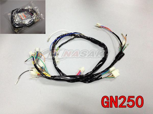 Envío Gratis para Piezas de Motocicleta SUZUKI GN250 Línea Completa Cable de Alta Calidad Calidad 1988-2001 Partes del Cuerpo Montadas en el Marco nuevo 250cc