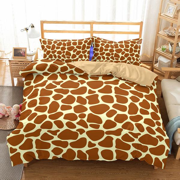 Großhandel Giraffe Braun Gelb Streifen Muster Druck Polyester