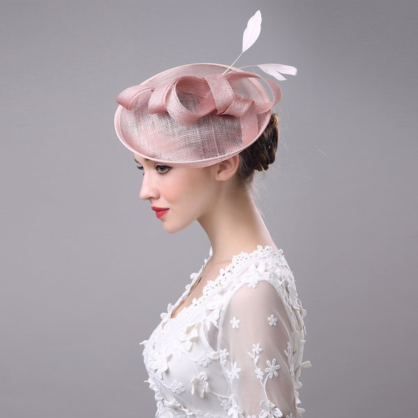 New Hot Pink Fascinator Formal Wedding Dress Hat With Wedding Party Ascots 2018 Cheap Wedding Guest Hats White Wedding Hats From Blue Dress 15 08