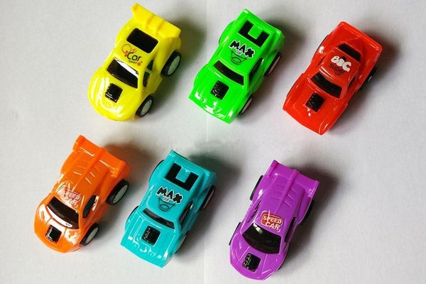 Pull Back Racer Cars Plastic Vehicles Friction Powered Mini Car for Toddlers Gift Baby Toy 6 cm