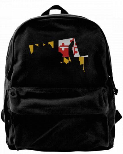 State Flag of Maryland Fashion Canvas Best Backpack Unique Camper Backpack For Men & Women Teens College Travel Daypack