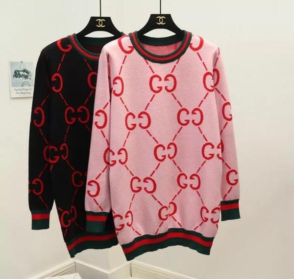 2018 Otoño e Invierno Fashion Girls Diseño Full G tejido de punto outwear Mujeres suéter cardigan cómodo Envío Gratis