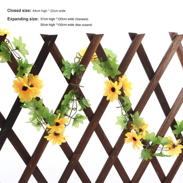 Easily Assembled 5ft Expanding Wooden Wall Fence Panel Plant Climb Trellis Support Decorative Garden Fence For Home Yard Garden Decoration
