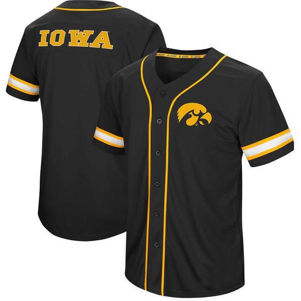 Men Iowa Hawkeyes Seminoles Colosseum Play Ball Baseball Jersey Stitch Sewn All Stitched High Quality Free Shipping Jerseys