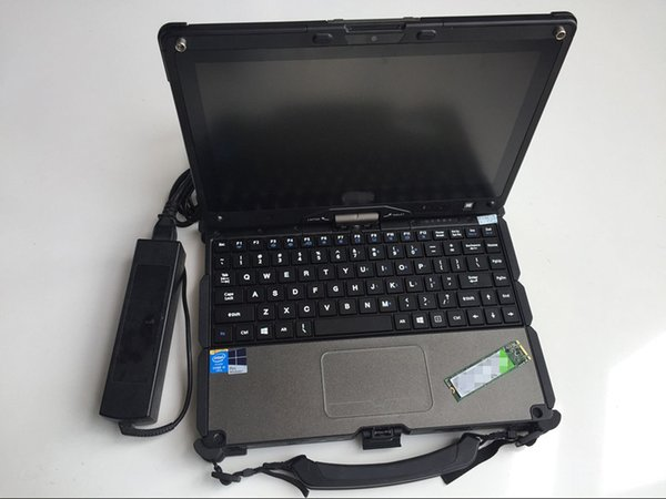 Free shipping Diagnostic scanner Used laptop computers V110 I5 4th Generation 4G Tough Screen Tablet PC Dual batteries for Diagnosis tool
