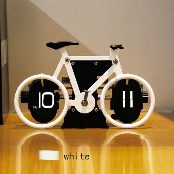 Simple Creative Fashion Bicycle Modeling Flip Alarm Clock Personalized Desktop Home Decoration Items Placed on The Desk BH100