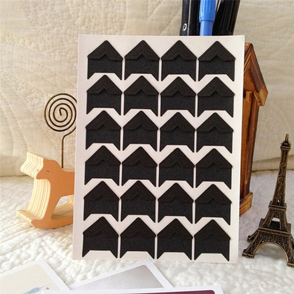 Album photo Bricolage Albums de photos Vintage Corner Kraft Paper Stickers Décoration Scrapbooking