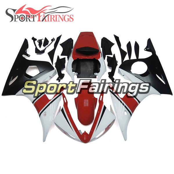 Red White Motorcycles Full Fairings For Yamaha YZF600 R6 YZF-R6 Year 2003 2004 Sportbike ABS Plastics Motorcycle Body Kit Bodywork Covers