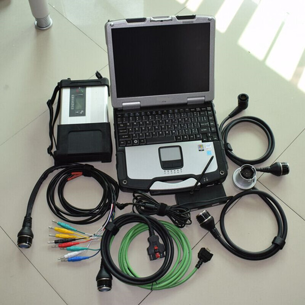 Full Chip for MB STAR C5 for MB SD Connect Compact 5 Diagnostic Tool with WIFI Function + CF30 Laptop hdd 320gb win7
