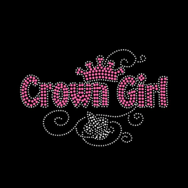 Crown Girl Rhinestone Iron On Transfer For Girls Clothes