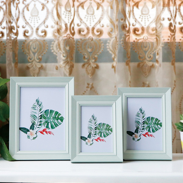 Retro American Style Photo Frames 5 Sizes Creative Table Desk Picture Frames Wedding Decor DIY Gifts Family Pictures Resin Art Decorations