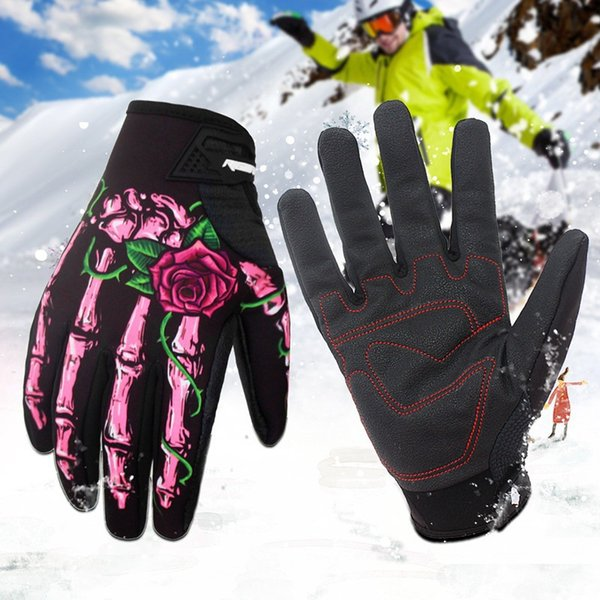 Men Outdoor Skull Full Finger Protective Gloves Motorcycle Bike Racing Riding
