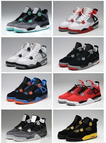 High Quality 4s Mens Basketball Shoes 4s White Cement Black Red 4 Superman Fashion Sports Shoes