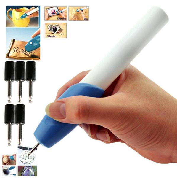 Mini Engraving Pen penna per incisione elettrica lettering penna pittura pennello intaglio con 1 testa tonda Macchina utensile da taglio 300 pz GGA84