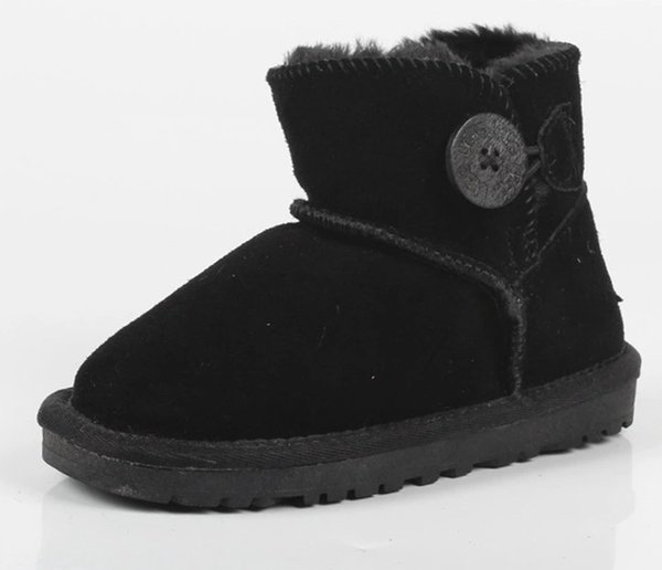 Nette Kinder Schneeschuhe Echtes Leder Mode-Stil Schneeschuhe für Kleinkinder Winter Schuhe für Kinder Botas Qualität Botas de nieve